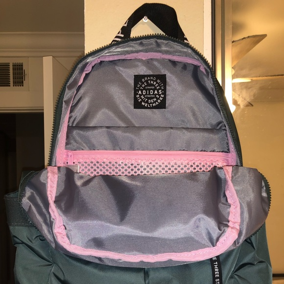 Adidas Olive and Pink Backpack